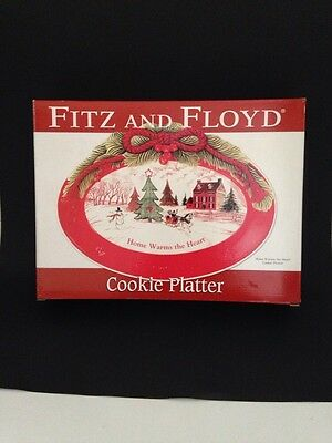 Fitz and Floyd Cookie Platter Home Warms The Heart