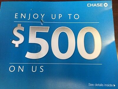 Chase $500 Bonus Fast Email Delivery DD Req EXP: 9/2/17