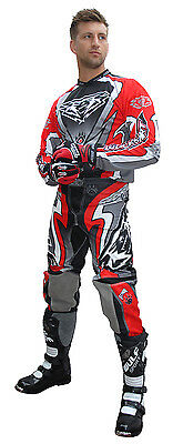 Wulfsport Attack Adult Red Motocross Kit Off Road MX Shirt + Pants
