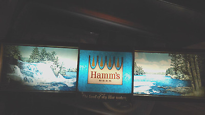 Hamm's Beer Panoramic Rippler Motion Advertising Light 1965 ~ Anniversary 100yrs