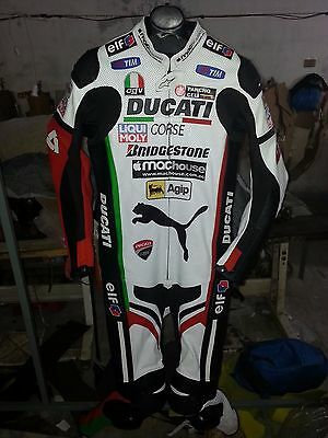 WWS Ducati Corse  Motorbike Leather Racing Suit All Size Available