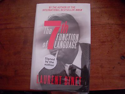 The 7th Function of Language by Laurent Binet. Signed UK first edition 1/1