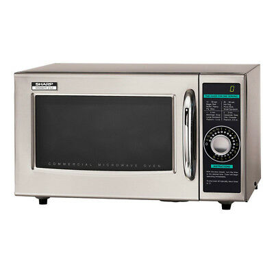 Sharp R-21LCF 1000w Commercial Microwave w/ Dial Control, 120v
