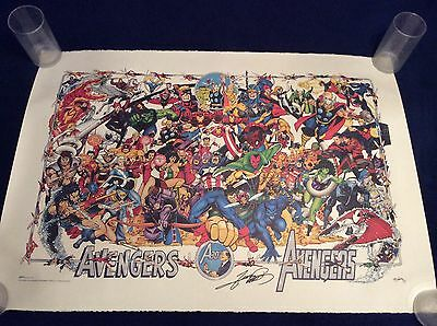 Avengers 1994 Marvel Limited AUTOGRAPHED George Perez Lithograph -VERY RARE