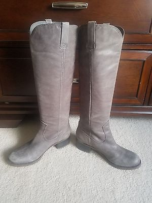 a6501c3485c LUCKY BRAND TALL Grey Boots Size 7.5 -  40.00