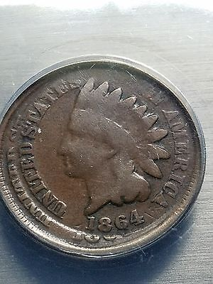1864 Indian Cent Double Struck Anacs G-4.nice Rare