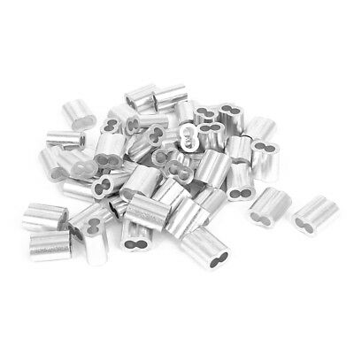 5/32-inch Wire Rope Aluminum Sleeves C Fittings Cable Crimps 50pcs E8B7