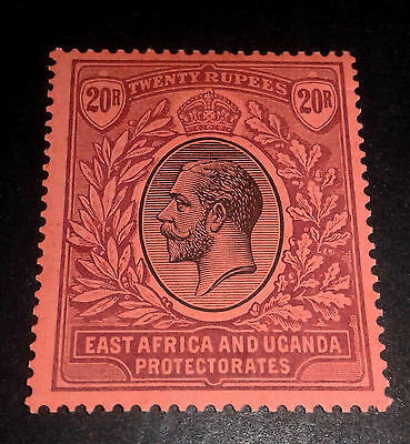 "East Africa Uganda Eap Protectorates 1918 Kgv 20R ""red"" Mca Fine Mint Sg 59 (55)"