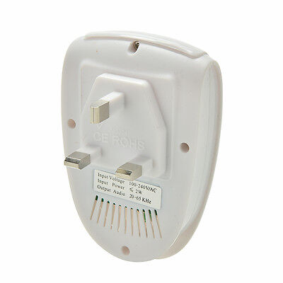 Ultrasonic Anti Mosquito Insect Pest Mouse Repellent Electro Repeller UK Plug UK