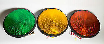 "12"" LED Traffic Stop Light Signal Set of 3 Red Yellow & Green Gaskets 120V 8009"
