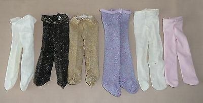 Authentic American Girl Pleasant Company Lot of 6 Tights Gold Black Purple