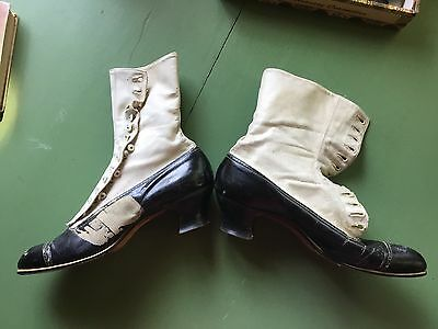 Antique Victorian Boots Leather High Lace Up Shoes Granny S