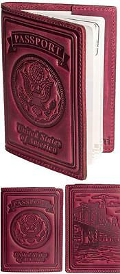 Passport Holder Cover Case 100% Luxury Genuine Leather For Men And Women