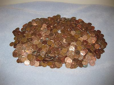 U.S. Penny Small Cent 12.2 lbs (5.5 kg) No Wheat Pennies Circulated Bullion