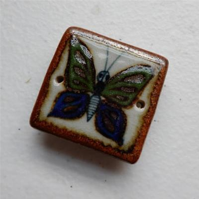 "Butterfly Tile ""Magnet Refrigerator"" Mexican Ceramic Tile, Tonala Wall Art"