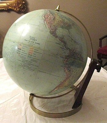 "Vintage Retro Eames Era Better Homes & Gardens 12"" True To Life World Globe"