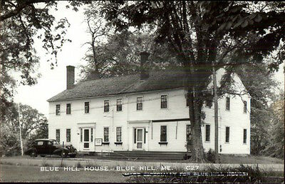 Bluehill Blue Hill House ME Real Photo Postcard