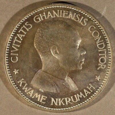 1958 Ghana Silver Proof 10 Shillings in Case  ** FREE U.S. SHIPPING**