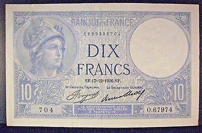 1936 France, Bank of 10 Francs, Pleasant Note      ** Free U.S. Shipping **