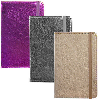 3pk CR Gibson Markings Journal Lined Note Books Silver Gold Purple With Pocket