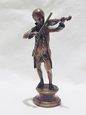 A French Bronze Figure Of The Young Mozart