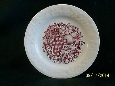 Vintage Homer Laughlin Quaker Oats Pastoral Plate, Harvest Pattern