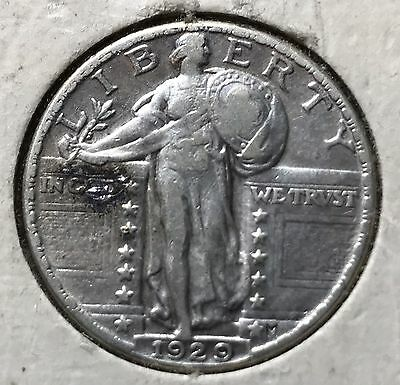 1929 Standing Liberty Silver Quarter. Nice Collector Coin For Your Collection