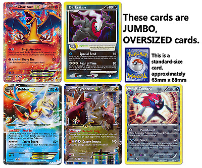 Pokemon Lot of 5 Different JUMBO OVERSIZED Holo Promo Cards for Collectors MINT!