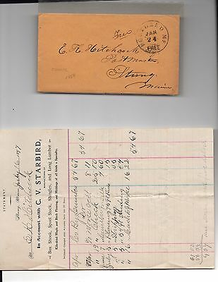STRONG MAINE Archive 1800's, of Letters,Checks,Billheads etc,E K HITCHCOCK Cover