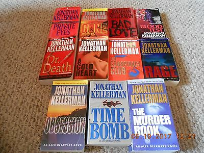 Lot of 11 Paperback Books By Jonathan Kellerman......Alex Delaware