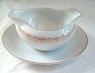 EUC Sheffield Fine China Gravy Boat Imperial Gold Made in Japan 504 W Free Ship!