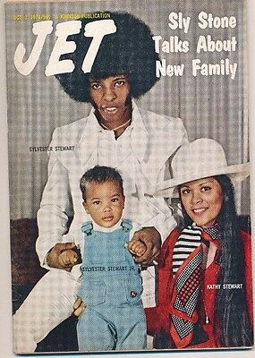 RARE Sly and the Family Stone Jet Magazine 10/3/1974 EXC COND NO MAILING LABEL