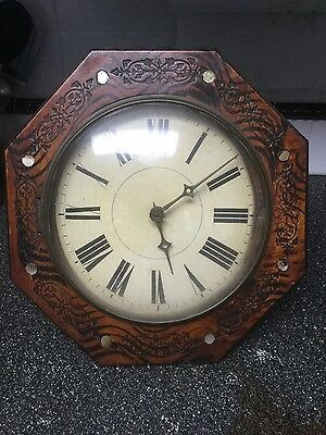 antique wall gear clock chains not working
