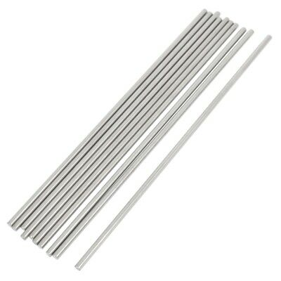 10 Pcs RC Airplane Model Part Stainless Steel Round Rods 3mm x 150mm Y5O2