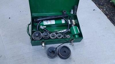 """Greenlee  1/2"""" To 3"""" Hydraulic Knockout Punch Set Nice"""
