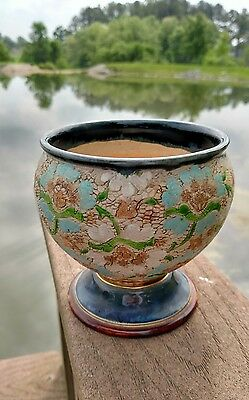 Antique Royal Doulton & Slater's Pottery Compote Vase Made in England - NR!