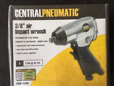 """Central Pneumatic 3/8"""" air impact wrench 93296 Brand New"""