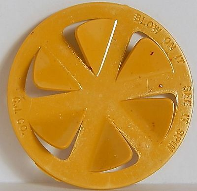 Vintage1950 Spinner Blow On It Cracker Jack Toy Yellow