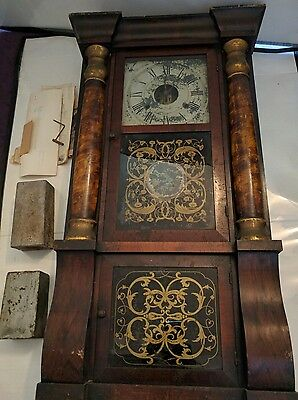Antique Seth Thomas Eight Day  Clock with some paperwork