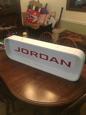 Jordan Double Sided Sign Red White Retro Basketball Display