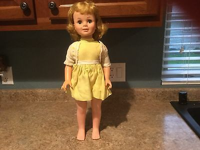 "Vintage 1963 Eegee Tandy Talks Doll 21"" RARE PlayPal Size Doll"