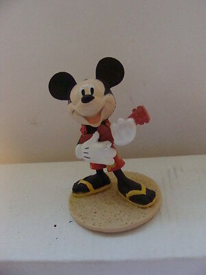Mickey Mouse in HAWAIIAN Clothes on a Stand PVC Figure DECO PAC Cake Topper
