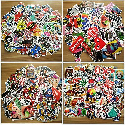 800 Random Skateboard Stickers Vinyl Laptop Luggage Decals Dope Sticker Lot Mix