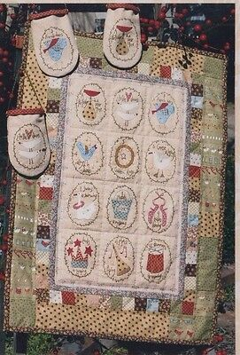 The Partridge & the Tree -  pieced, stitchery & applique Christmas quilt PATTERN