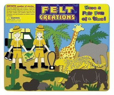 Felt Creations Safari - Kids Felt Board Activity African Animals Rhino Giraffe