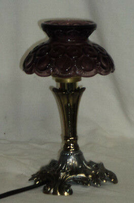 "L G Wright Moon and Star Amethyst 73/4"" "" Mini Electric Lamp Whimsey"