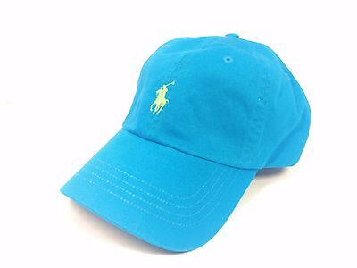 New Polo Ralph Lauren Baseball Hat Strapback Adjustable Dad Cap Blue/Green