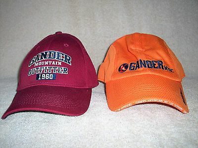 GANDER MOUNTAIN OUTFITTERS Lot of 2 Hats Ball Caps NWOT Free US Shipping