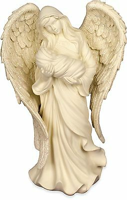 AngelStar Caring Embrace - Table Top Female & Child Angel Figurine