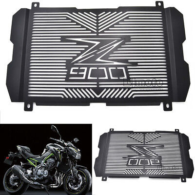 Black Radiator Guard Cover Grille Grill Engine Protectors For Kawasaki Z900 2017